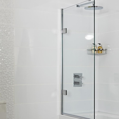 China Transparent Bath Shower Screen Glass Panel  Tempered Glass Safety supplier