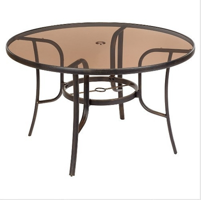 China Round Bronze Tinted Table Top Glass Withstands Abrupt Temperature supplier