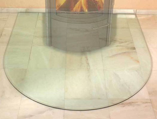 China 6 mm Glass Screen Fireplace , Glass Bottom Plate High Polished Edges supplier