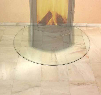 China CE EN12150 Standard Resistance Glass Hearth Plate 6mm Thickness Tempered High Pressure supplier
