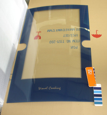 China Printed Curved Low E Tempered Glass Oven Glass Panel Oven Door Outer Glass supplier