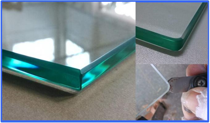 BS6206 Standard Pool Fencing Glass With Polished Edges No Holes